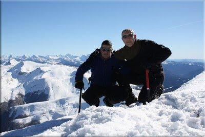 Orhi mendiaren gailurra 2.017 m. - 2011ko otsailaren 6an