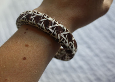 crafty jewelry: fabric covered bracelet tutorial