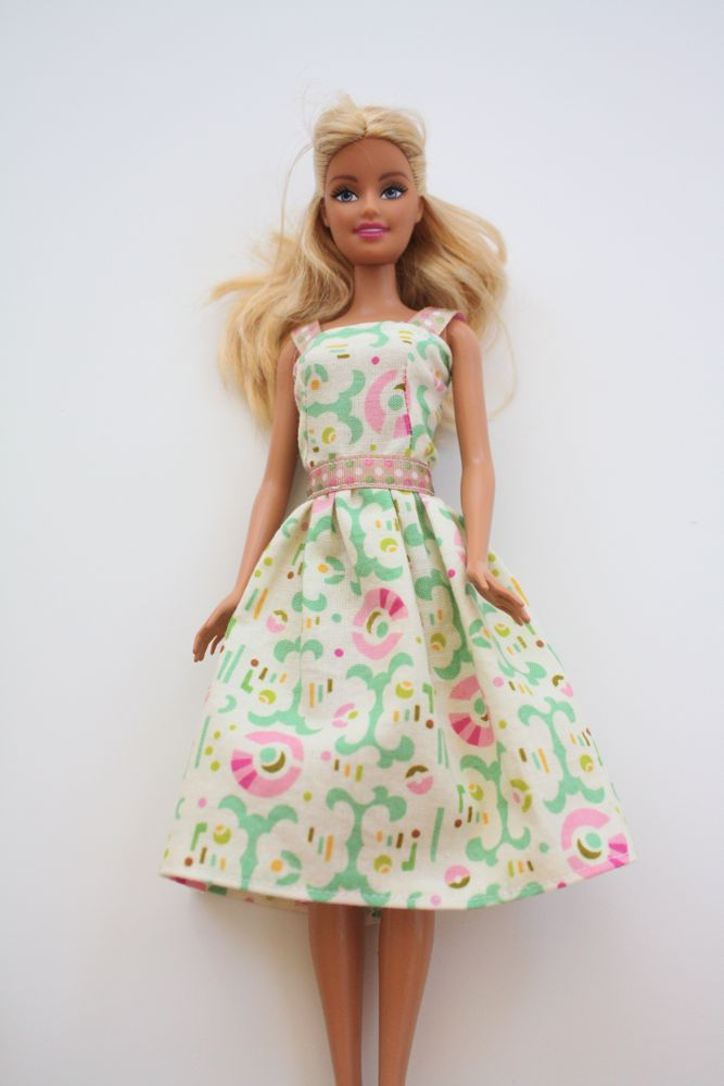 Barbie dress tutorial you could also make the skirt longer for a ball gown shorter for a sundress add straps a beltsash lace on the bottom a tiny applique the possibilities solutioingenieria Choice Image