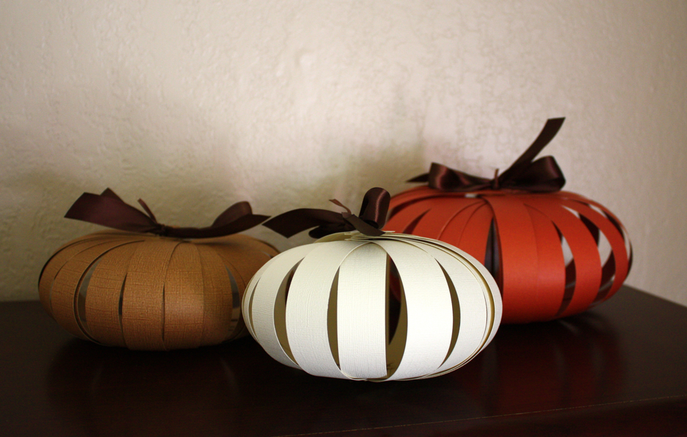 Paper pumpkin tutorial for Halloween decorations crafts to make
