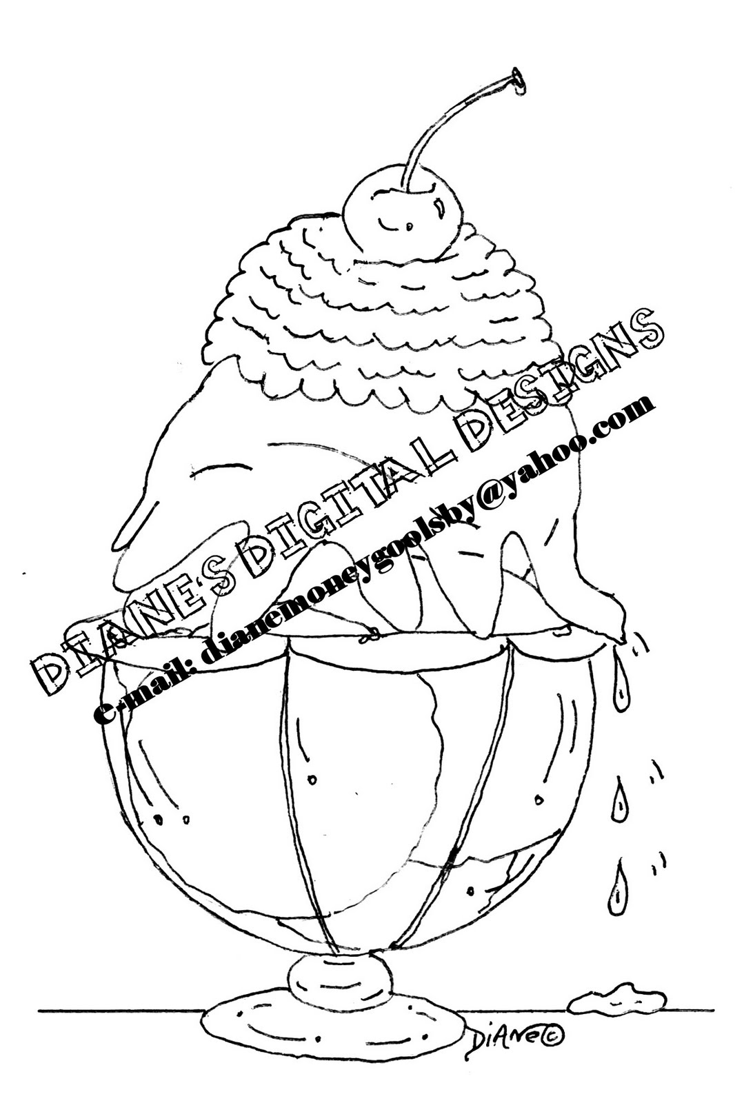 2 Scoops Coloring Pages