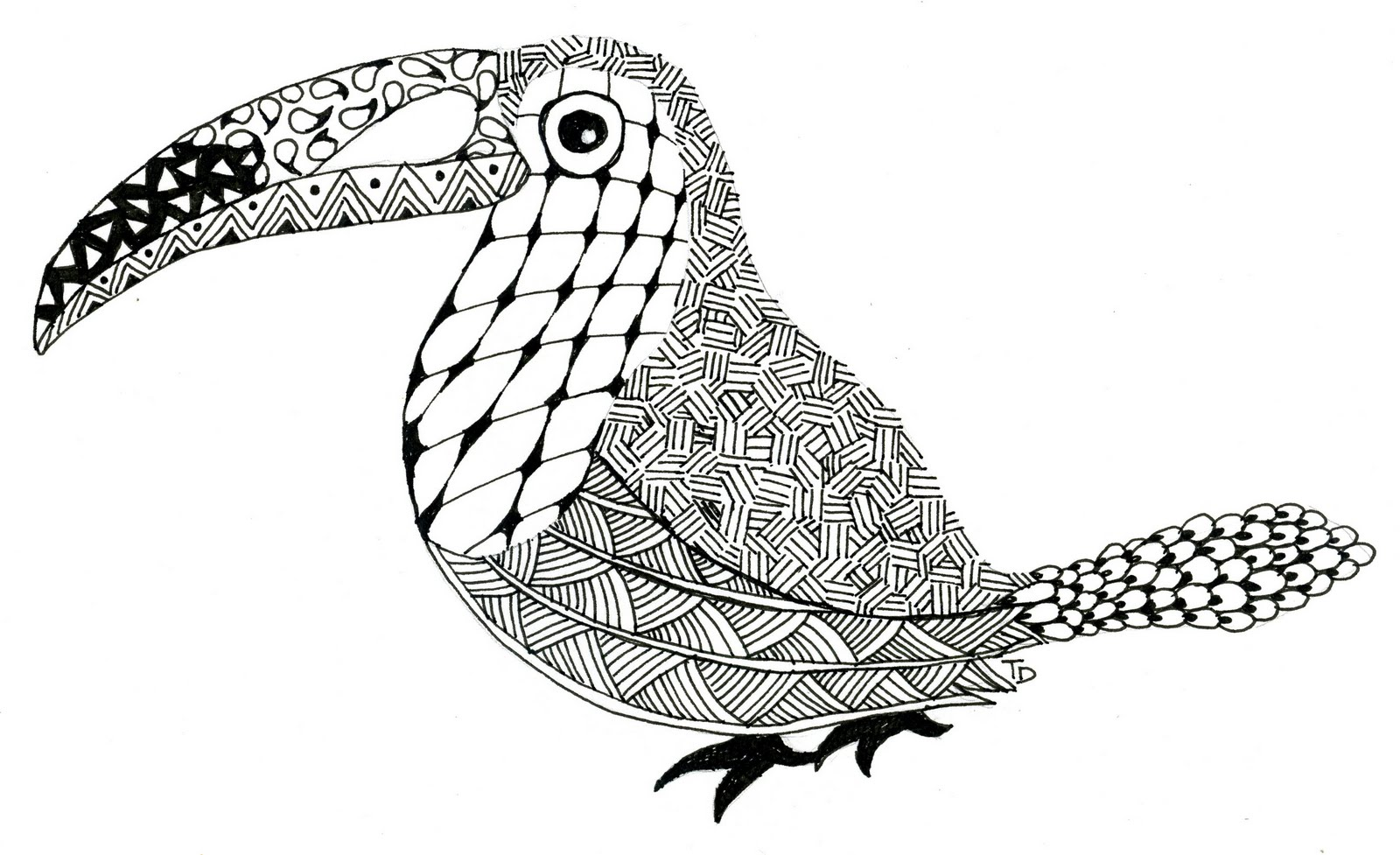 Zentangles Easy Animal Coloring Pages