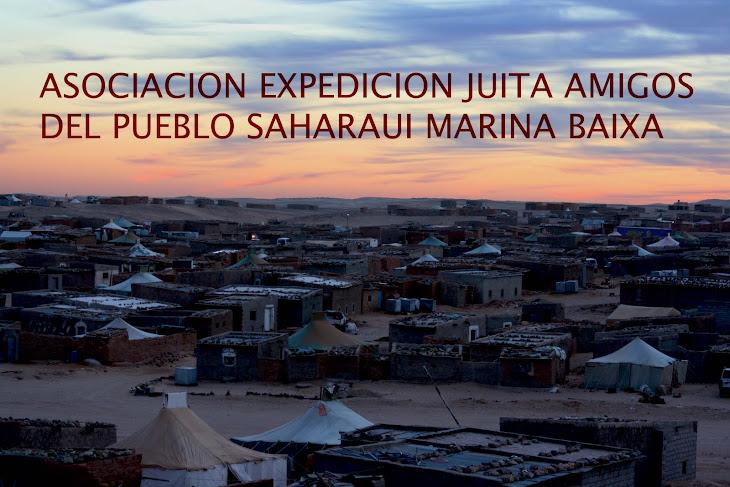 """ASOCIACION """"EXPEDICION JUITA"""" AMIGOS DEL PUEBLO SAHARAUI DE LA MARINA BAIXA"""