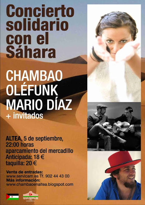 CONCIERTO SOLIDARIO DE CHAMBAO EN ALTEA