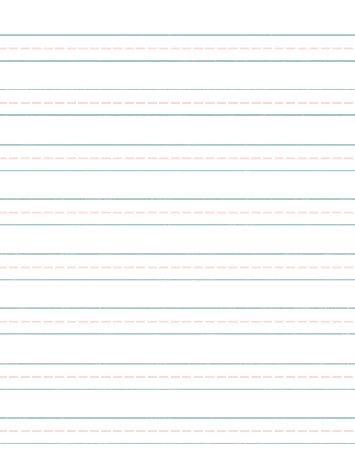 printable lined paper template elementary – School Writing Paper Template