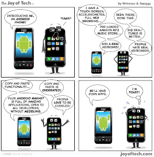 iphone vs android BD comics