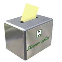Stemmeseddel og valgurne