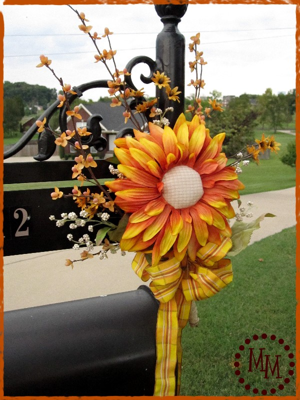 VERY Special Fall Mailbox Decor  The Scrap Shoppe ~ 222911_Halloween Decorating Ideas For Mailboxes