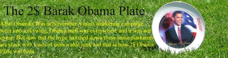 The 2$ Barack Obama Plate