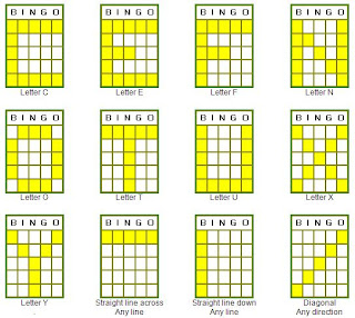 different types of bingo patterns