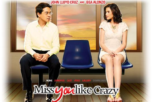Miss You Like Crazy is a 2010 romantic drama, Filipino film starring the