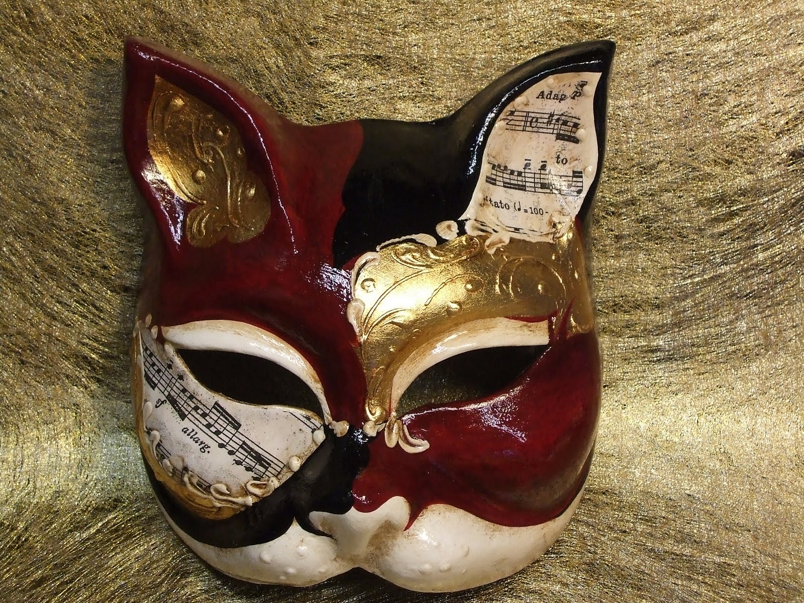 Gatti in cartapesta - Pagina colorazione maschera gatto ...
