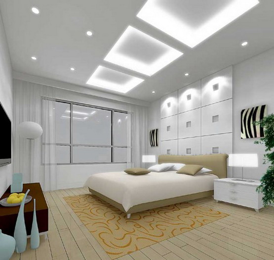 Exotic Bedroom Interiors With Awesome Lighting Fixtures