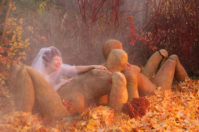Barbara with the Sunbathers in Autumn