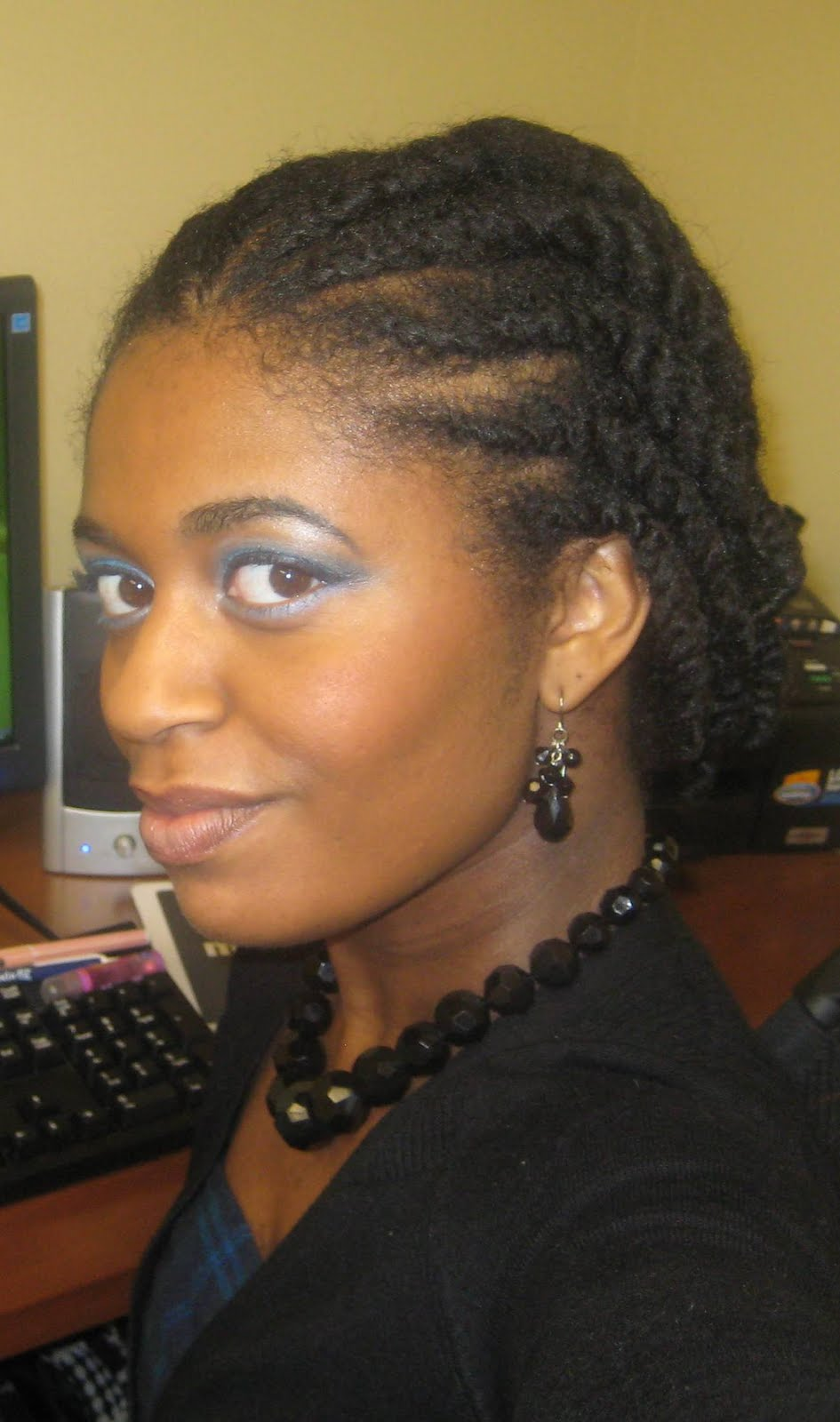 Naturally elegant hairstyle two strand flat twists two strand hairstyle two strand flat twists two strand flat twists updo pmusecretfo Image collections