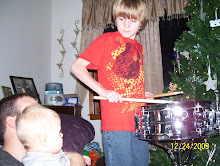 Ethan's new drum...