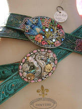 Chic painted Belts & One of a Kind Buckles!