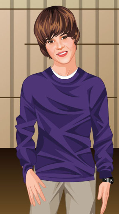 Justin Bieber on Justin Bieber Cartoon With Purple Shirt   Pictures Of Justin Bieber