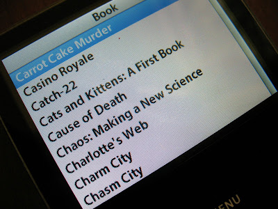 library catalog on an ipod