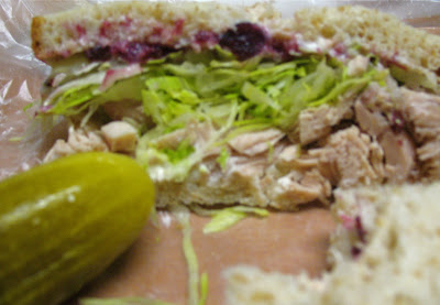 bakeman's turkey sandwich with cranberry sauce