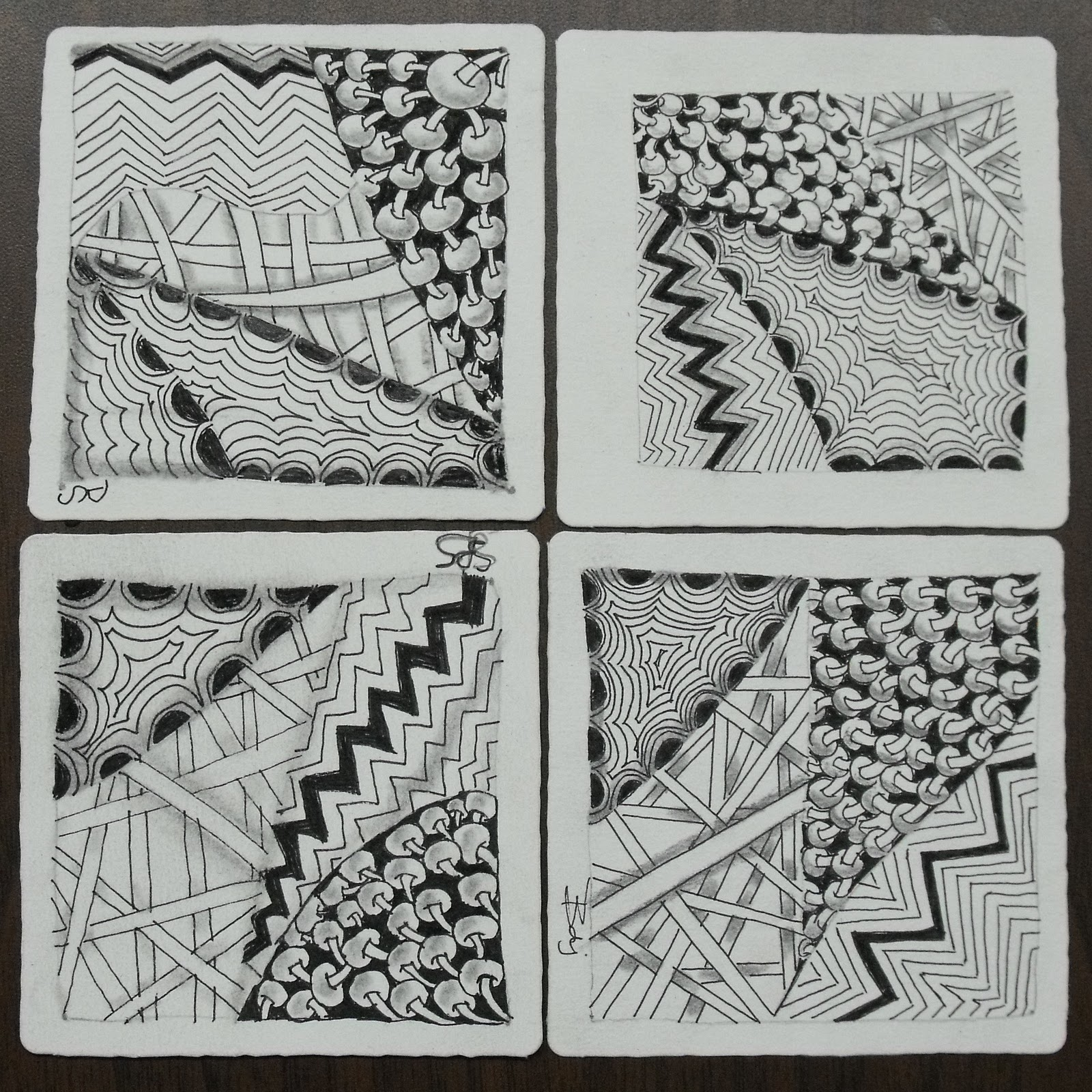 In rosie 39 s book zentangle tiles from introductory class for Zentangle tile template