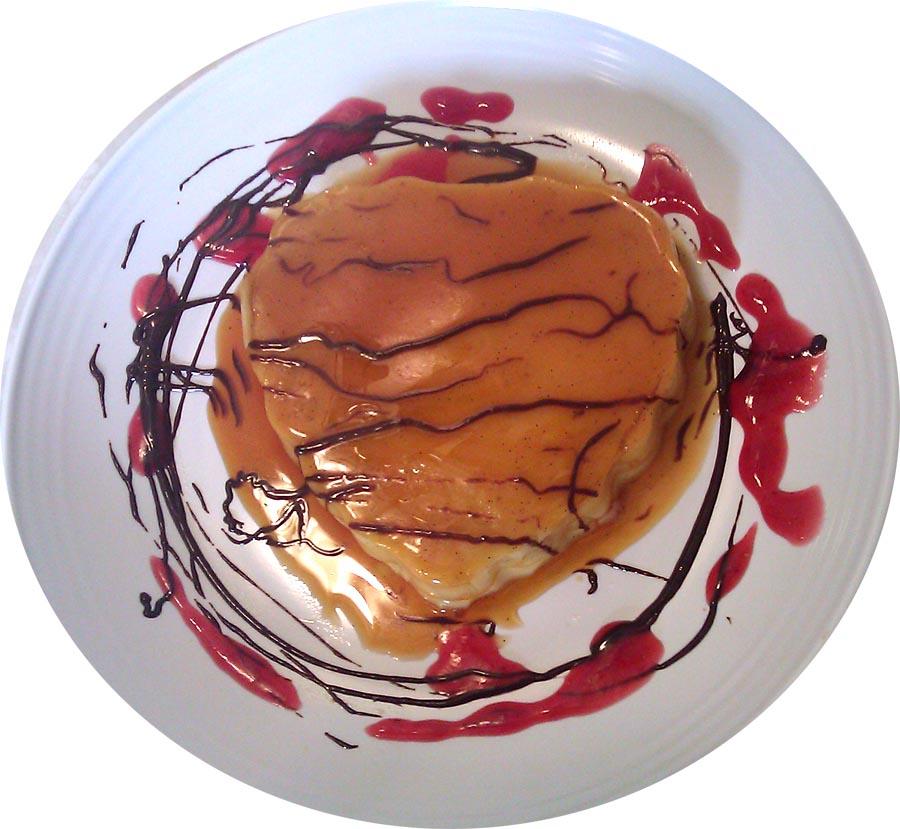 a profound hatred of creme caramel bittersweet hazelnut chocolate sauce raspberry chagne