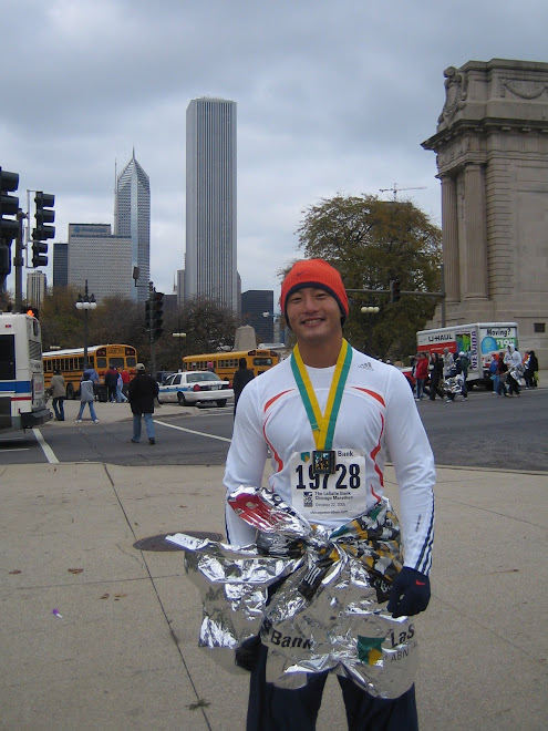 Jeff finished the Chicago Marathon