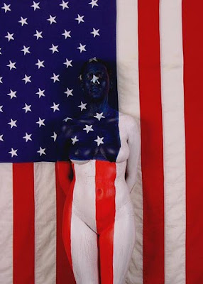 Airbrush Body Painting American Flag Concept so Sexy American Flag Concept so Sexy
