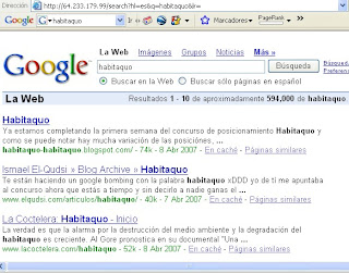 habitaquo 1º en Google
