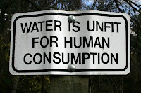 Water is unfit for human consumption