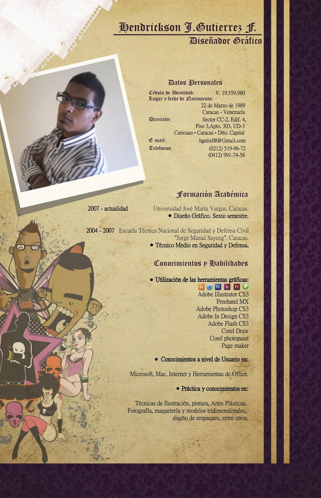 El Curriculum Vitae De Un Diseñador Gráfico Lmm Board