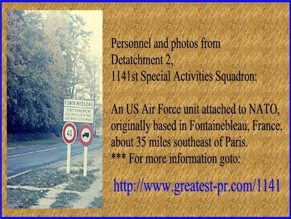 1141st Spactron Vets -- Detachment 2, USAF NATO