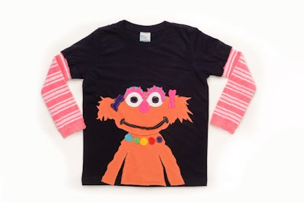 recycled sesame street t-shirts, sesame street clothing, green kids clothing, eco-friendly kids clothing, sesame street, morfs, morfs brand clothing