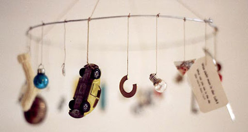 handmade mobile, one of a kind mobile, DIY mobile, franze straessle