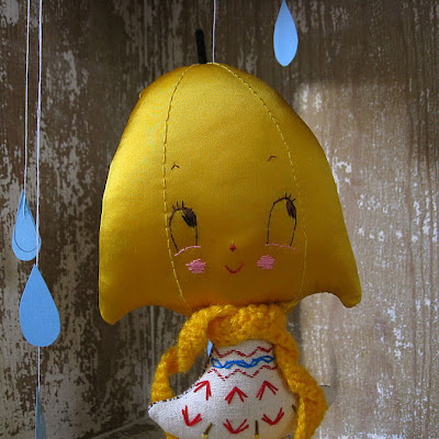 handmade doll, umbrella doll, misako mimoko