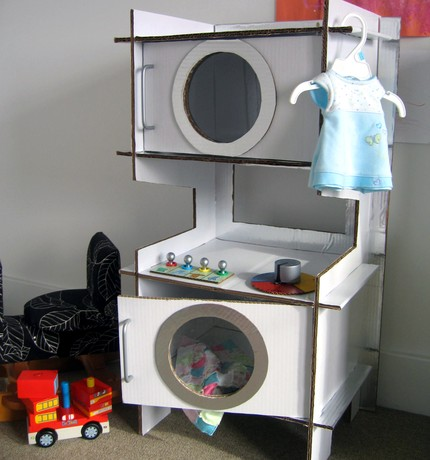 cardboard washer and dryer, play washer and dryer