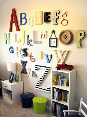 nursery decor, alphabet nursery decor, abc's, alphabet wall decor, green nursery, green nursery wall decor