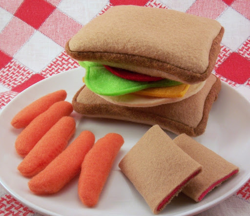 felt playground, felt play food, eco-friendly felt play food