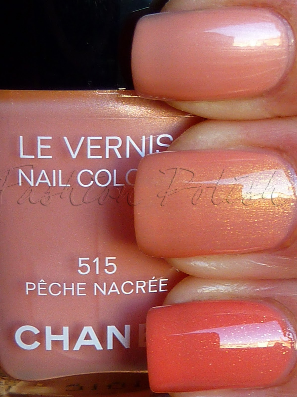 Fashion Polish: Chanel Peche Nacree