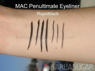 MAC, Style Black, swatches, Rapidblack, Penultimate