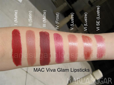 MAC, lipstick, Viva Glam, swatches