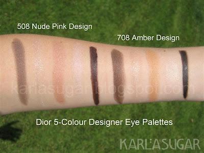 Dior, designer, architect, quint, palette, eyeshadow, swatches, nude pink design, amber design