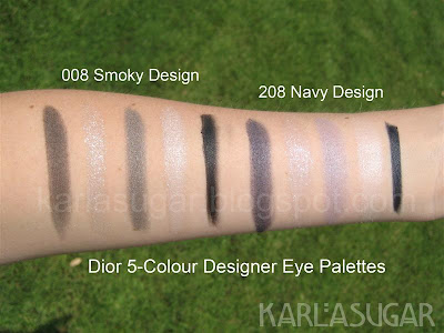 Dior, designer, architect, quint, palette, eyeshadow, swatches, smoky design, smokey design, navy design