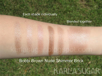 Bobbi Brown, Nude Collection, swatches, Shimmerbrick, Shimmer Brick, Nude