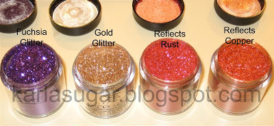 MAC, Makeup Art Cosmetics, pigment, glitter, glitter reflects, Cocomotion, Heritage Rouge, Brash and Bold, Brash & Bold, Push the Edge, Fuchsia, Fuschia, Gold, Reflects Rust, Reflects Copper