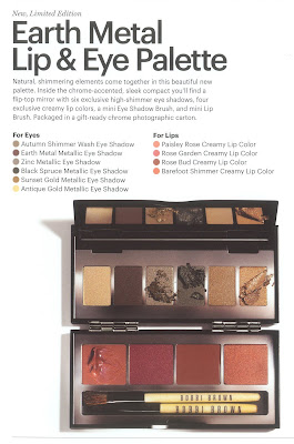 Bobbi Brown, holiday, Chrome, Earth, Metal, Palette