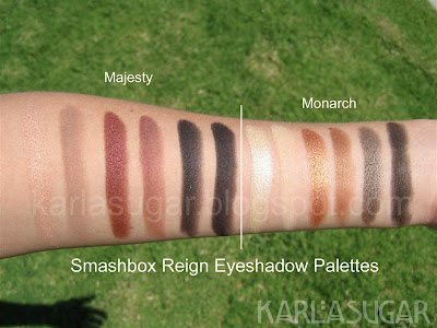 Smashbox, Reign, Majesty, Monarch, swatches