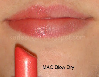 MAC, Blow Dry, swatches
