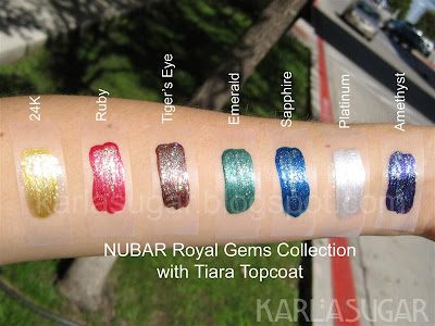 Nubar, Royal Gems, swatches, 24K, Ruby, Tiger's Eye, Emerald, Sapphire, Platinum, Amethyst, Tiara