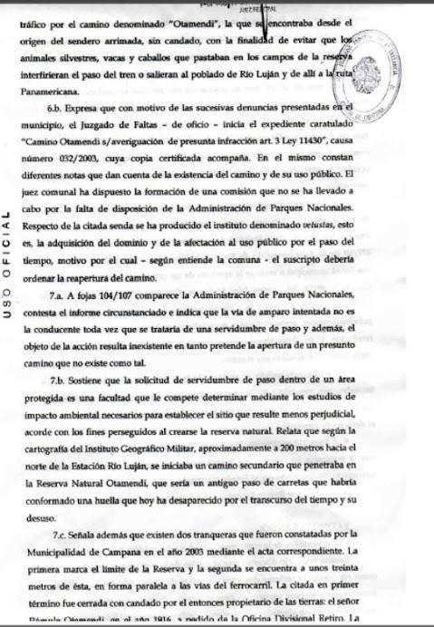 Sentencia Juez Federal Año 2005